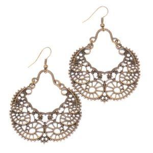 Jewelry - Bohemian bronze earrings